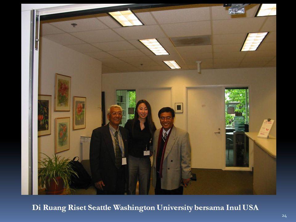 Di Ruang Riset Seattle Washington University bersama Inul USA 24