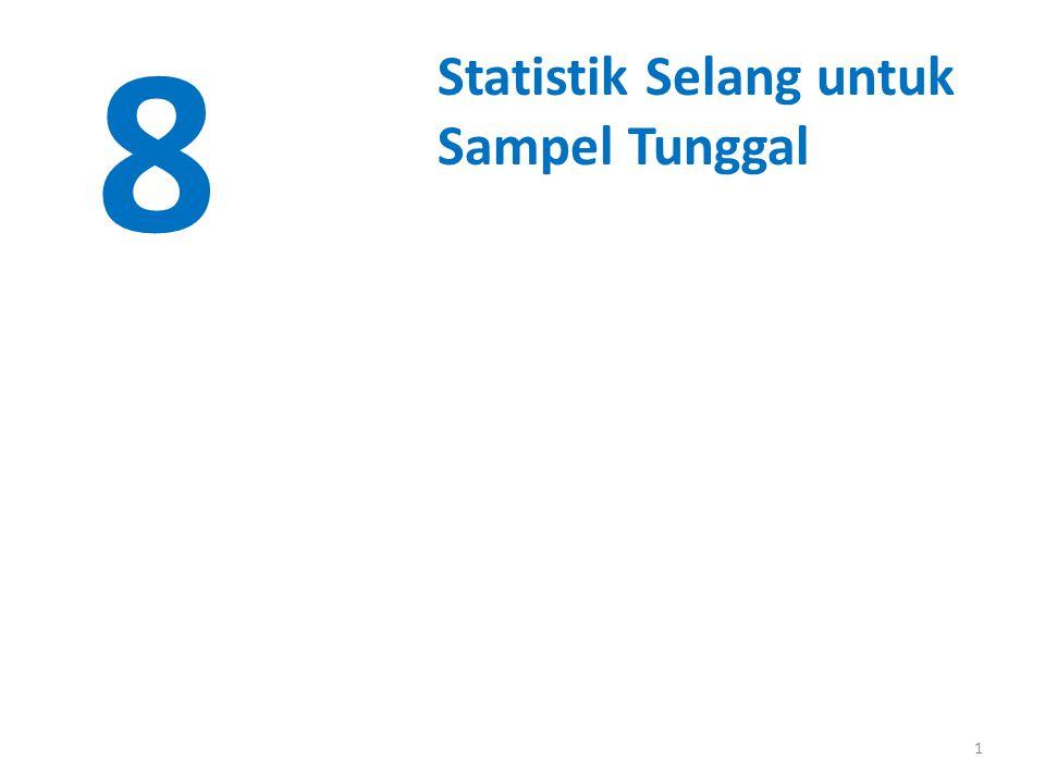 1 8 Statistik Selang untuk Sampel Tunggal