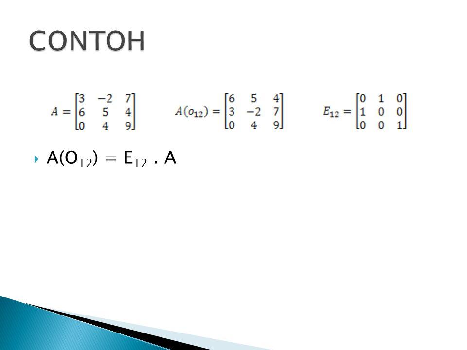  A(O 12 ) = E 12. A