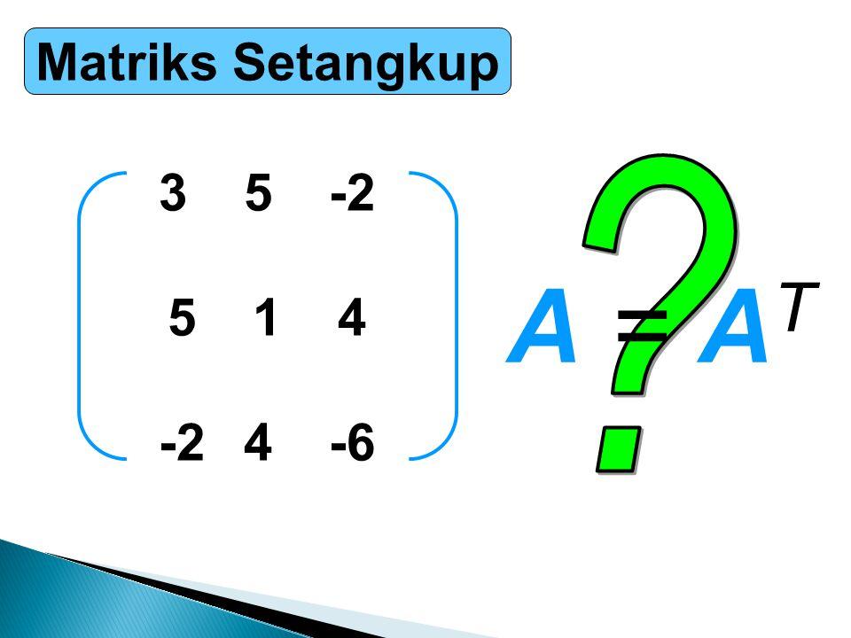Matriks Setangkup 35-2 514 -24-6 A = ATA = AT