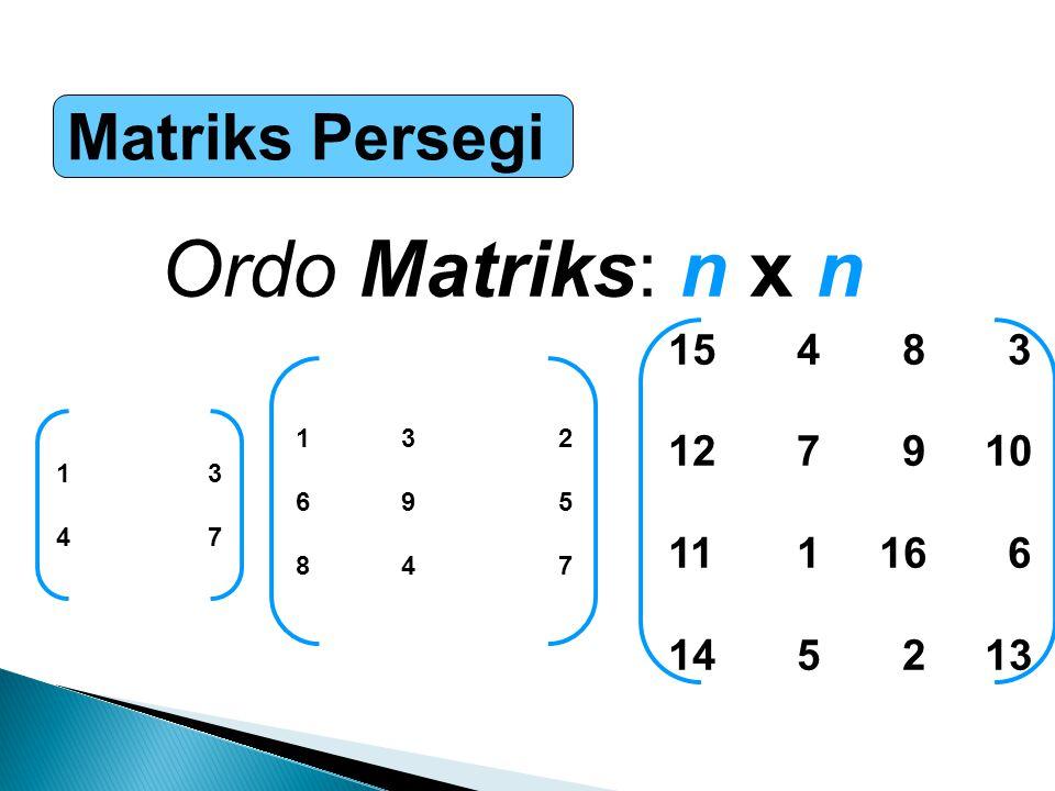  Dengan menganggap bahwa ukuran-ukuran matriks adalah sedemikian sehingga operasi- operasi yang ditunjukkan dapat dilakukan, maka kaidah-kaidah ilmu hitung matriks akan berlaku: ……