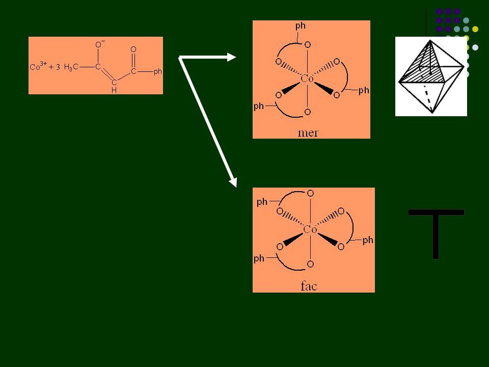 Untuk kompleks dengan ligan kelat (AAA)(BBB) =