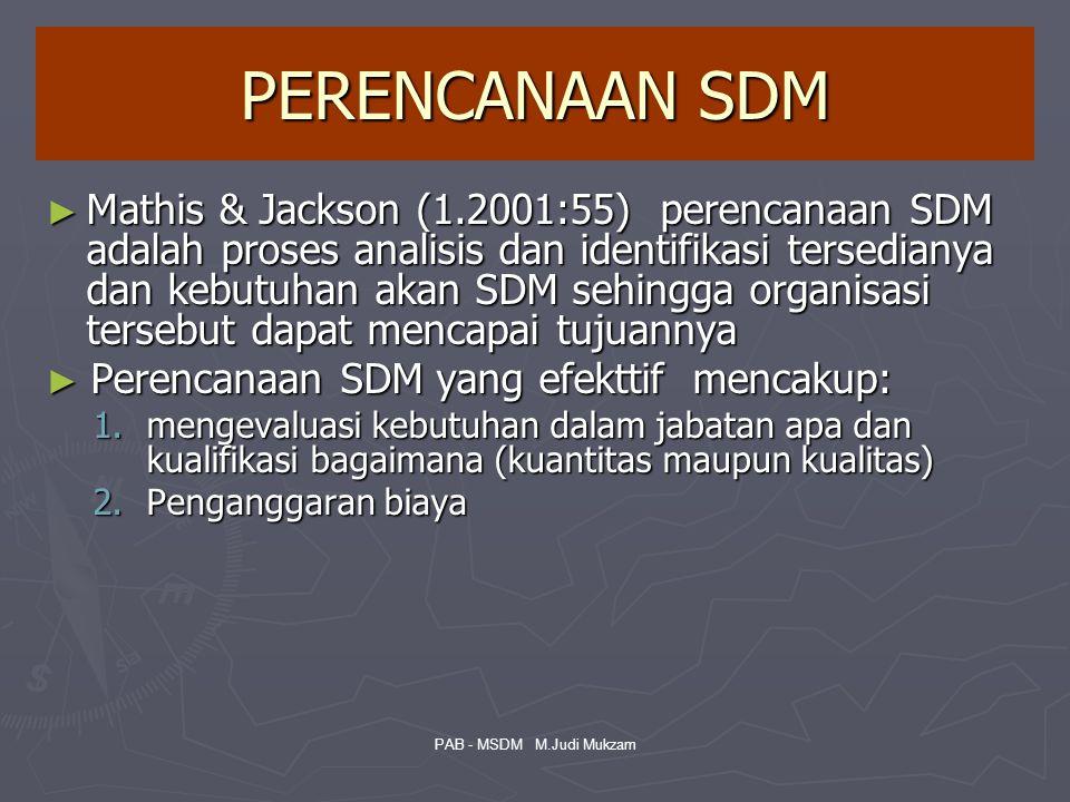 PERENCANAAN SDM ► Mathis & Jackson (1.2001:55) perencanaan SDM adalah proses analisis dan identifikasi tersedianya dan kebutuhan akan SDM sehingga org