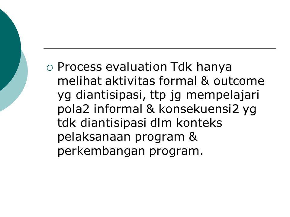  Krn itu diperlukan kepekaan thd perubahan2 dlm program, baik yg bersifat kualitatif maupun kuantitatif.