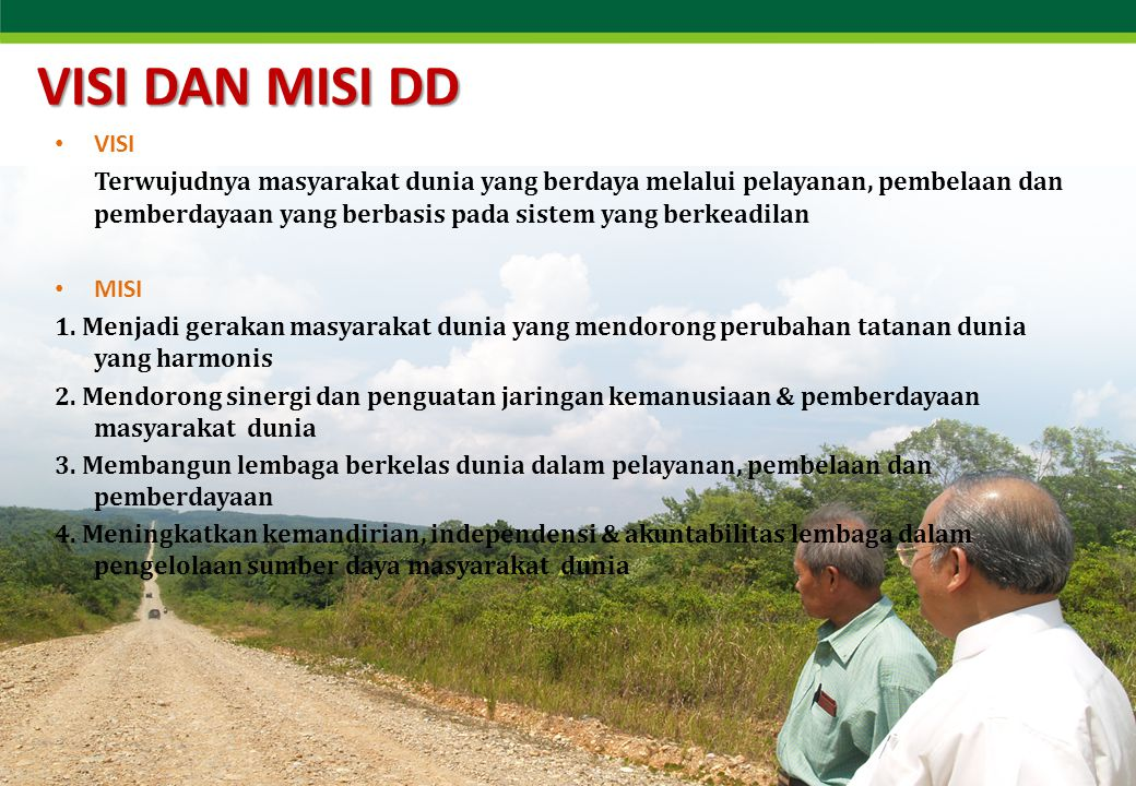 Masyarakat Mandiri (MM) Program Masyarakat Mandiri (MM) didedikasikan DD sejak tahun 2000 untuk memutus lingkaran kemiskinan di kantong-kantongnya.
