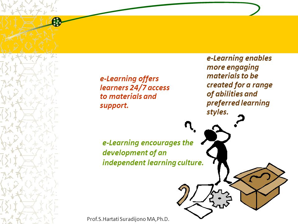 e-Learning offers learners 24/7 access to materials and support.