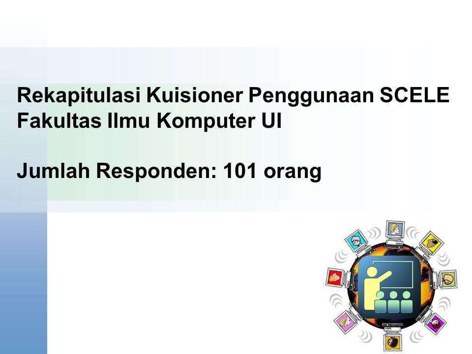 Rekapitulasi Kuisioner Penggunaan SCELE Fakultas Ilmu Komputer UI Jumlah Responden: 101 orang