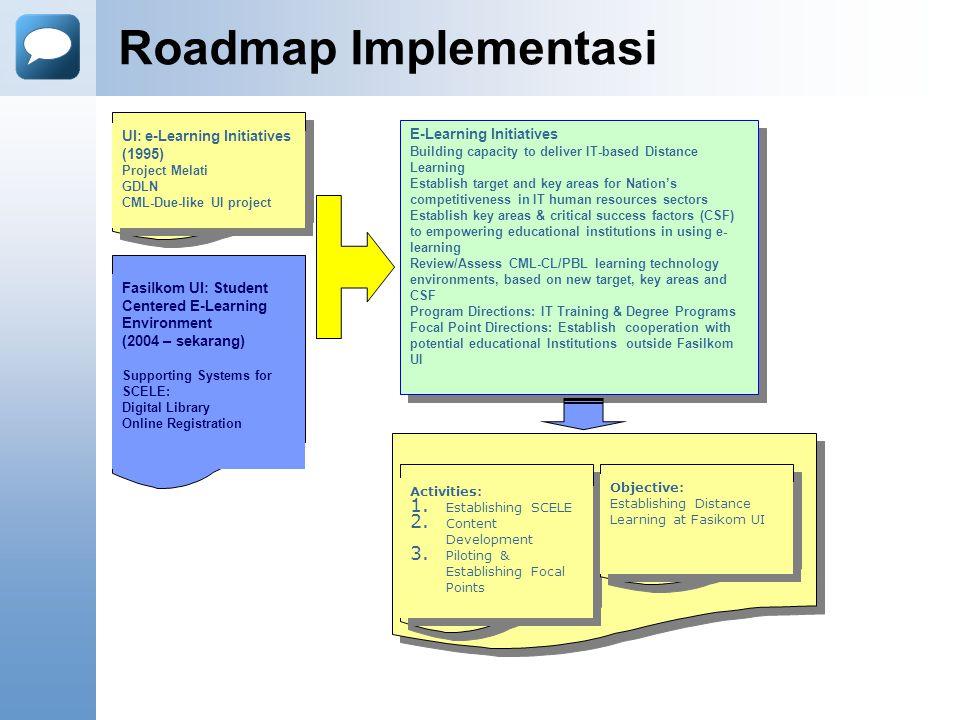 Lesson Learned Seluruh infrastruktur pendukung harus sudah siap sebelum pelaksanan program e-Learning, baik di sisi environment, infrastruktur, unit pendukung, maupun perangkat hukumnya baik di tingkat fakultas maupun universitas.