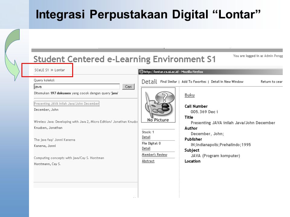 """Integrasi Perpustakaan Digital """"Lontar"""""""