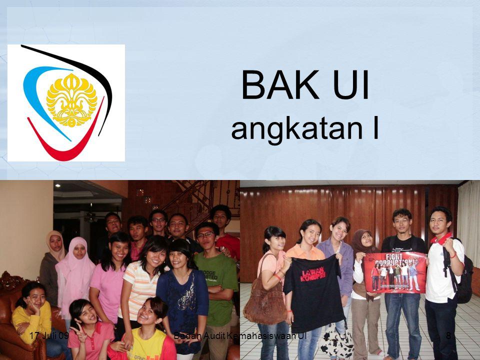 26 April 2008 Terwujudnya penerapan tata kelola organisasi kemahasiswaan yang baik dalam Ikatan Keluarga Mahasiswa Universitas Indonesia .