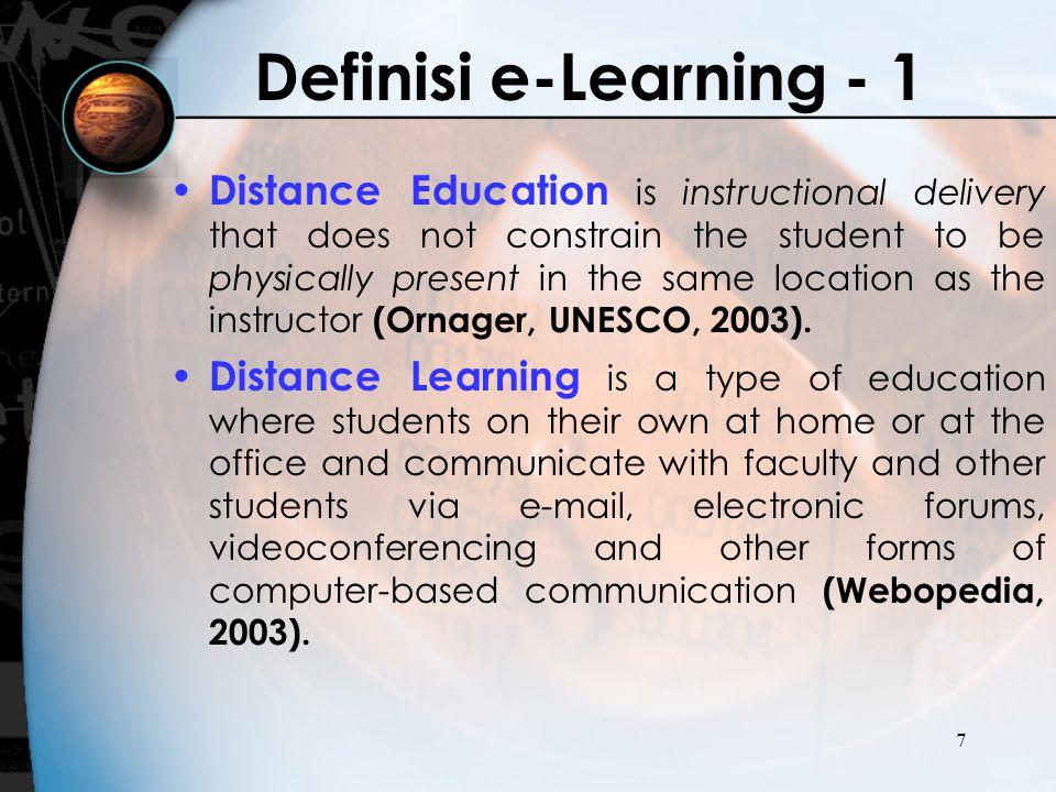 18 Pengembangan e- Learning -Komponen Sistem e-Learning -Arsitektur