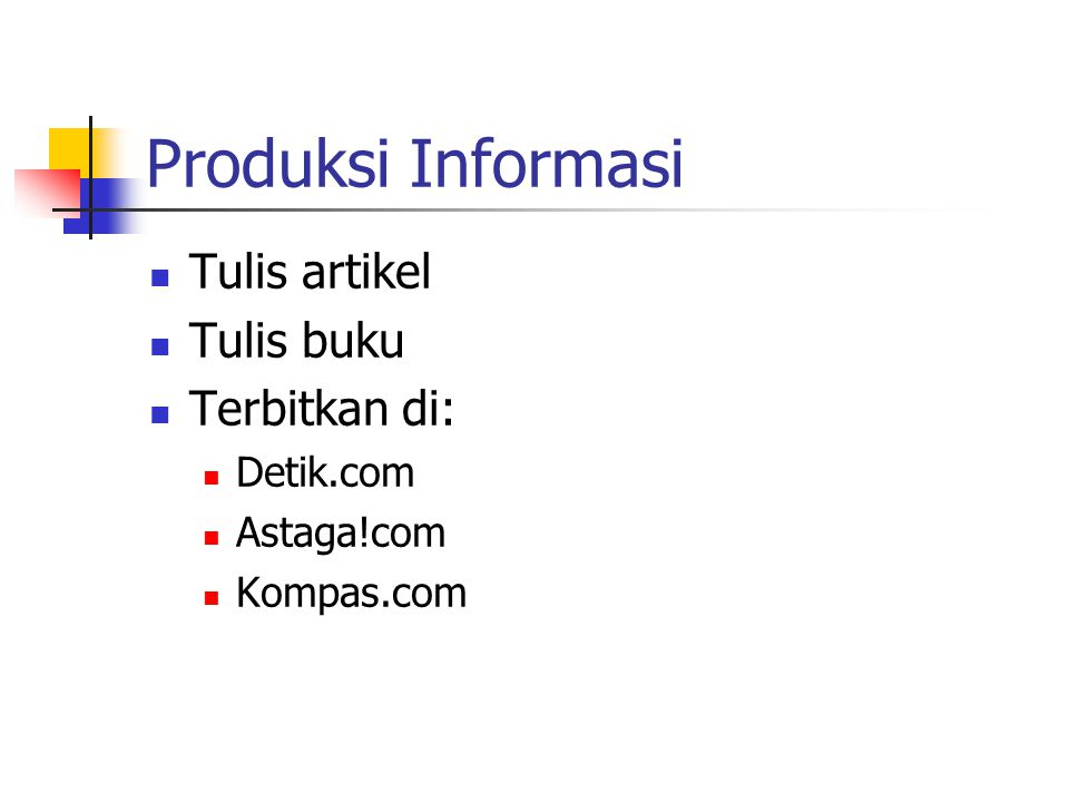 Community Building Aktif di mailing list E-commerce@itb.ac.id Mastel-e-commerce@egroups.com Warta-e-commerce@egroups.com Subscribe via: *-subscribe@eg