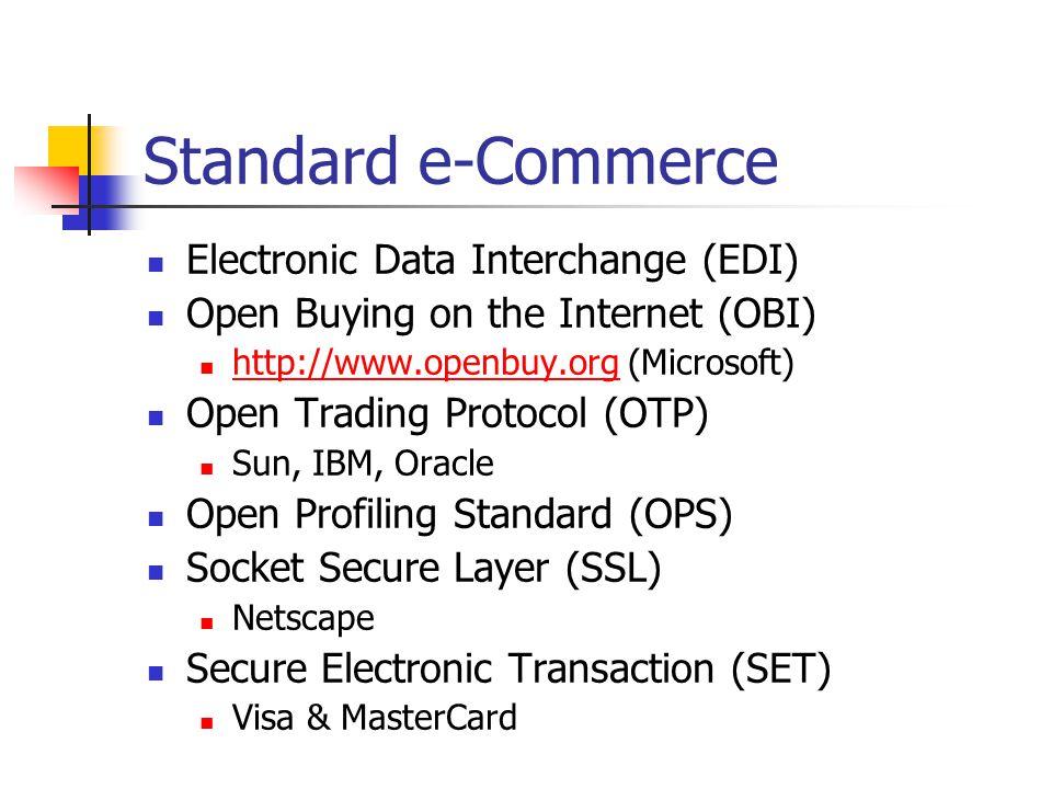 Start e-Commerce Indonesia http://www.telkom.net.id (CommerceNet) http://www.telkom.net.id IndosatCom EDI Indonesia Luar Negeri http://store.yahoo.com