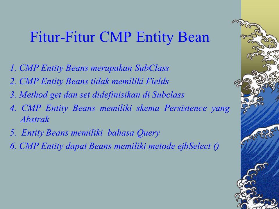 Fitur-Fitur CMP Entity Bean 1.CMP Entity Beans merupakan SubClass 2.