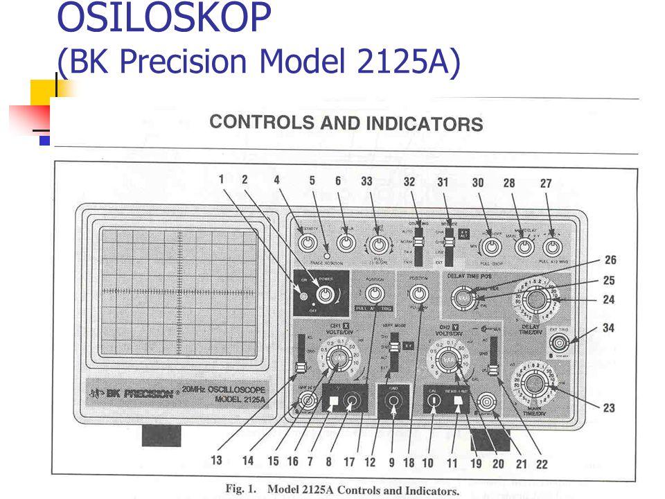 Mengatur tampilan dengan dengan mengubah sensitivitas vertikal Vpp = 8 volt Mempunyai tampilan : R  5V/div B  2V/div D  1V/div