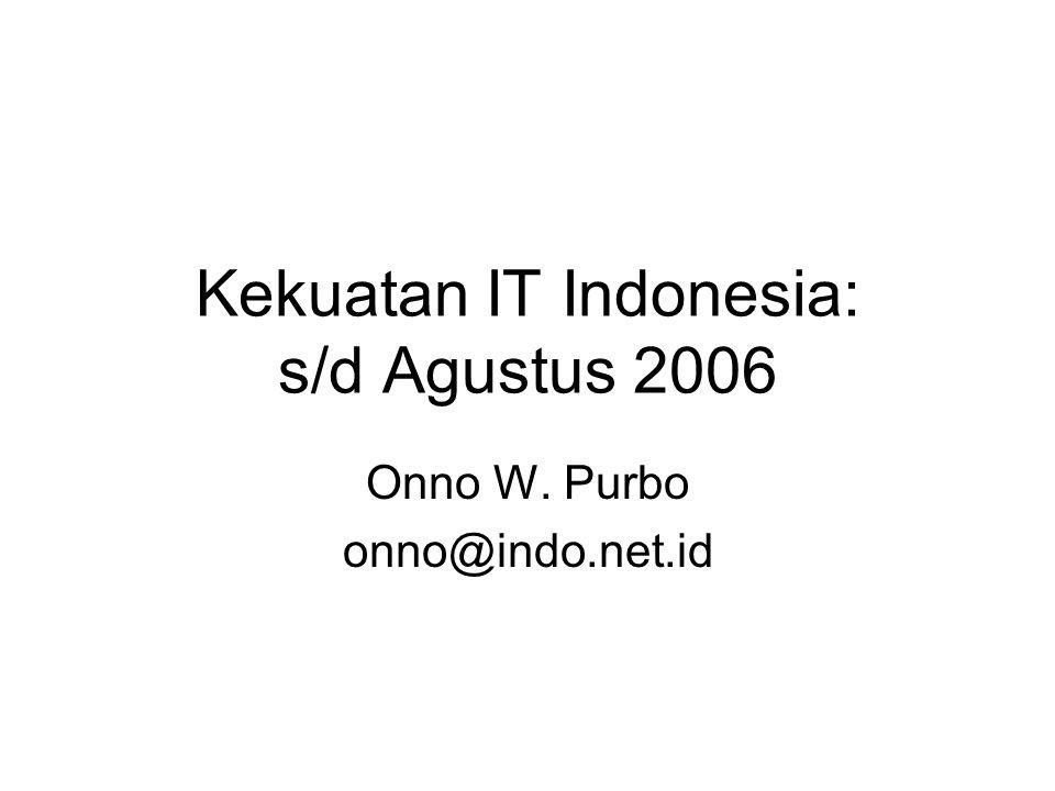 Kekuatan IT Indonesia: s/d Agustus 2006 Onno W. Purbo onno@indo.net.id