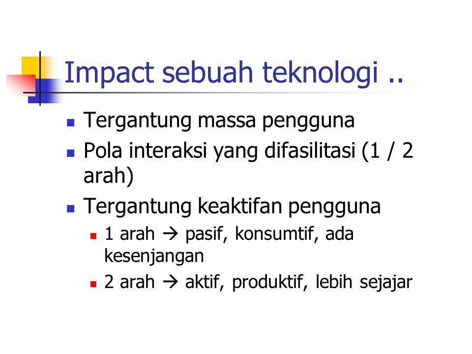 Impact sebuah teknologi..