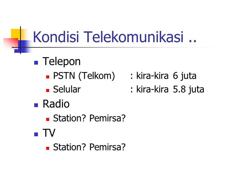 Kondisi Telekomunikasi..