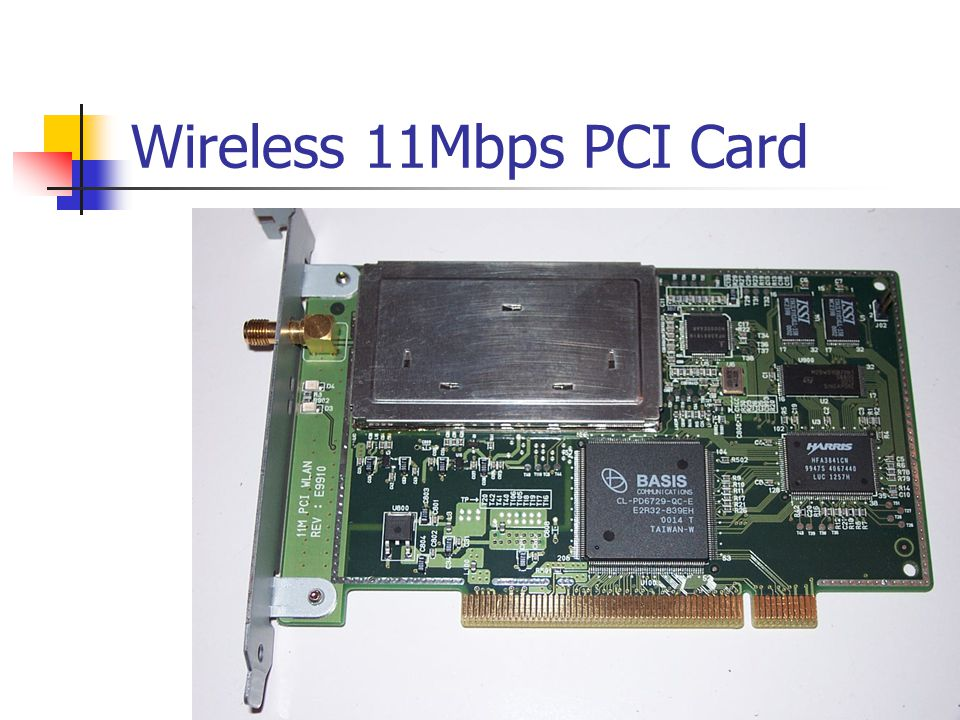 Wireless 11Mbps PCI Card