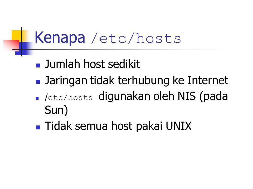 Utility nslookup Untuk mengetahui apakah DNS server dapat berjalan sebagaiman mestinya...