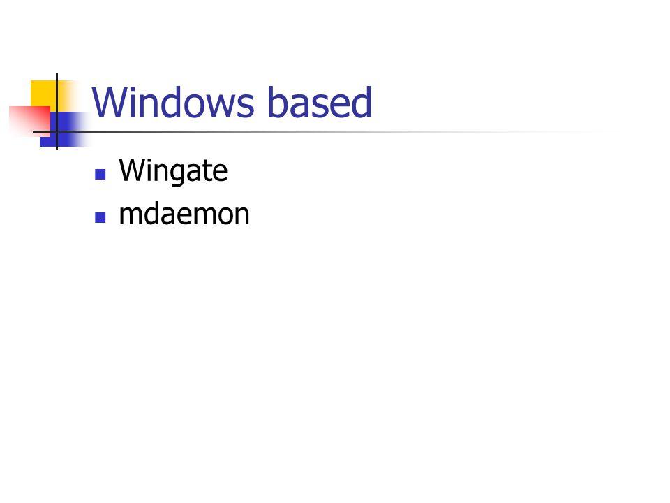 Windows based Wingate mdaemon