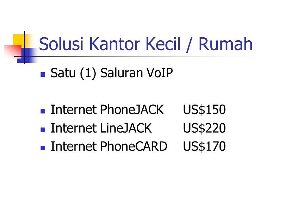 Solusi Kantor Kecil / Rumah Satu (1) Saluran VoIP Internet PhoneJACKUS$150 Internet LineJACKUS$220 Internet PhoneCARDUS$170