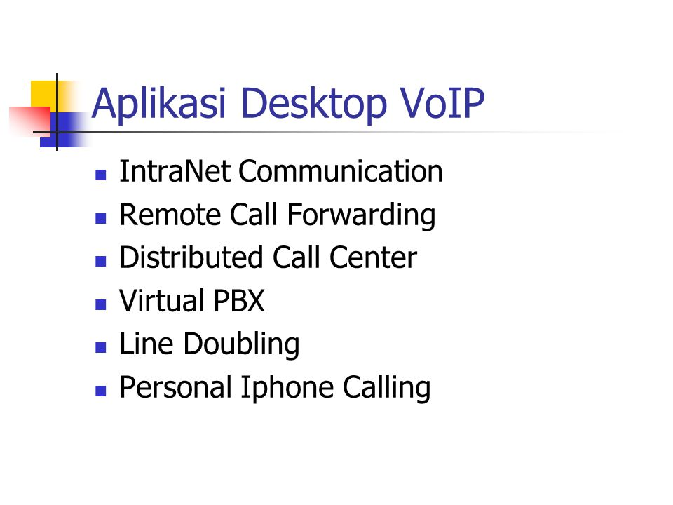 Aplikasi Desktop VoIP IntraNet Communication Remote Call Forwarding Distributed Call Center Virtual PBX Line Doubling Personal Iphone Calling