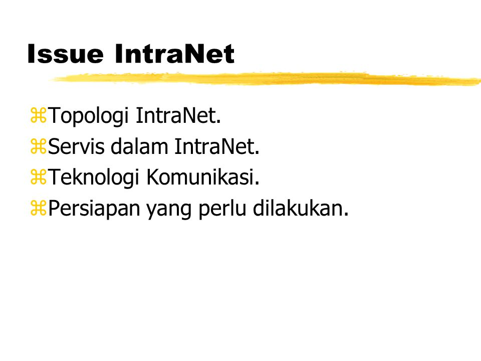 IntraNet Sederhana