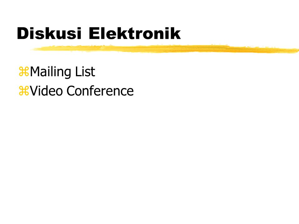 zMailing List zVideo Conference