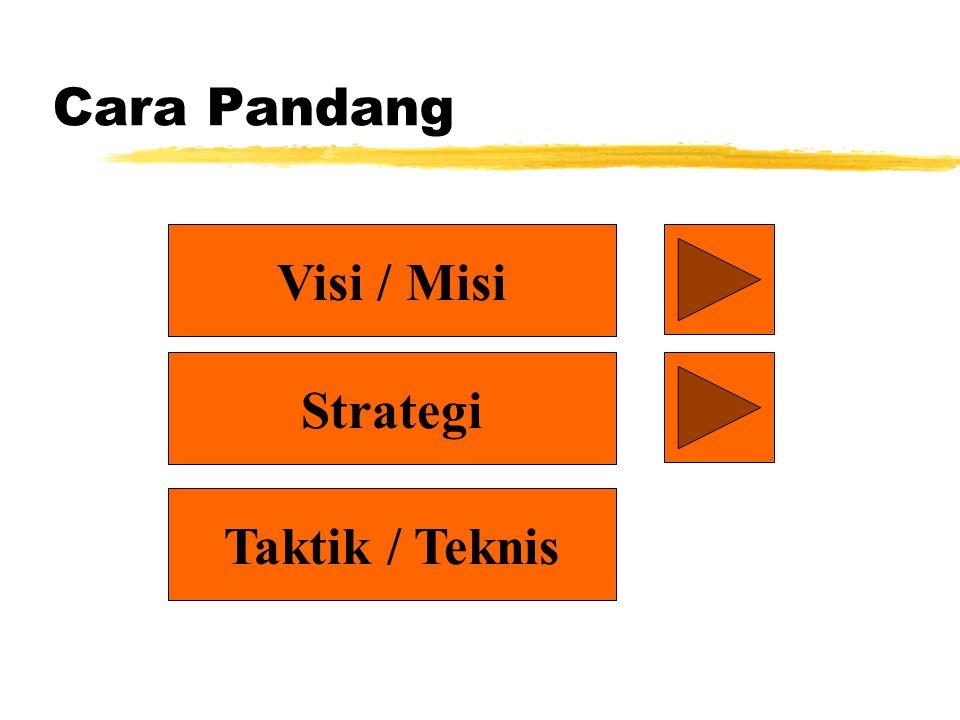 Cara Pandang Visi / Misi Strategi Taktik / Teknis