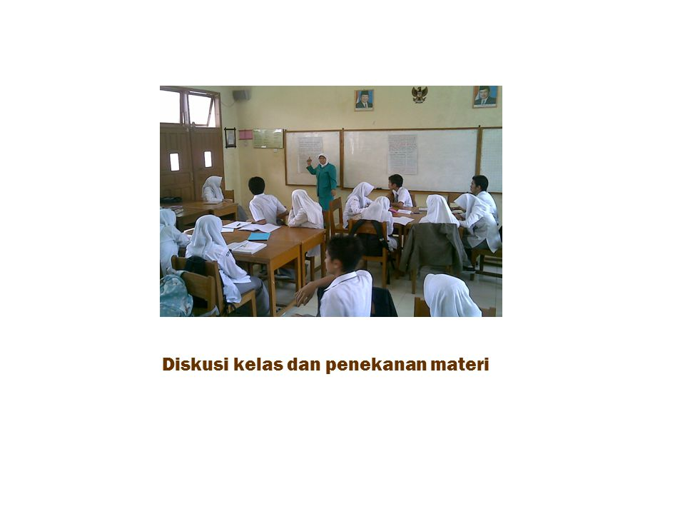 Diskusi kelas dan penekanan materi