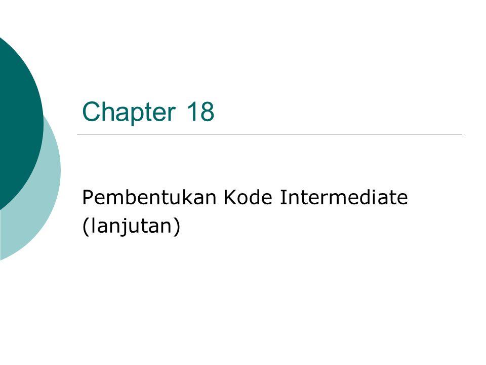 Chapter 18 Pembentukan Kode Intermediate (lanjutan)