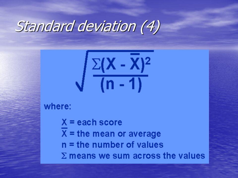 Standard deviation (4)