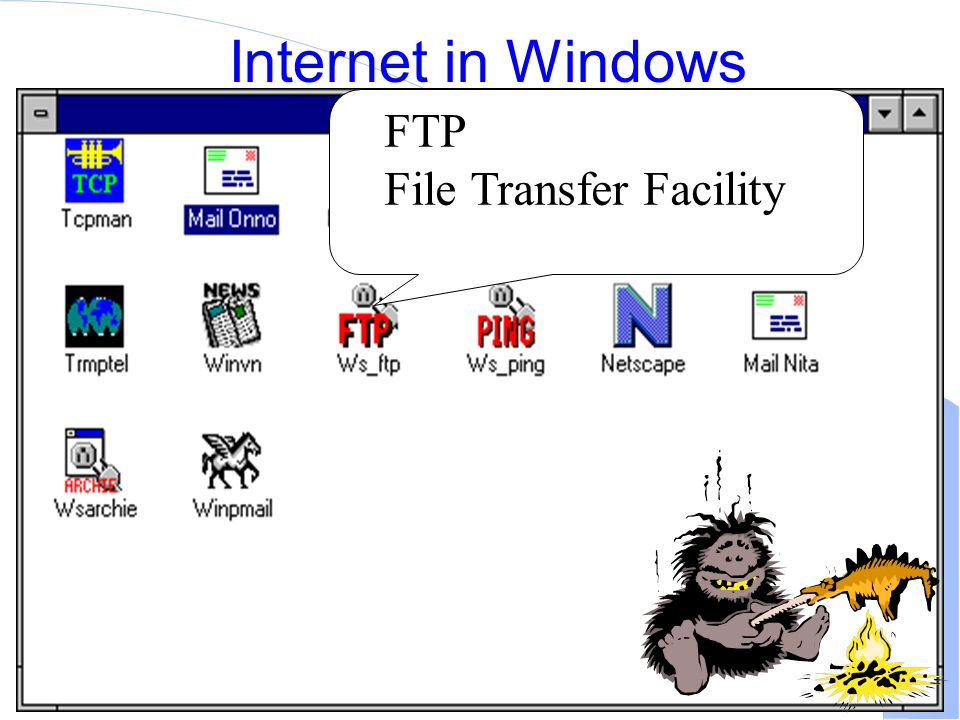 Computer Network Research Group ITB Internet in Windows FTP File Transfer Facility