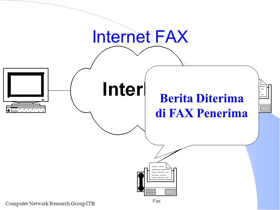 Computer Network Research Group ITB Internet FAX Berita Diterima di FAX Penerima