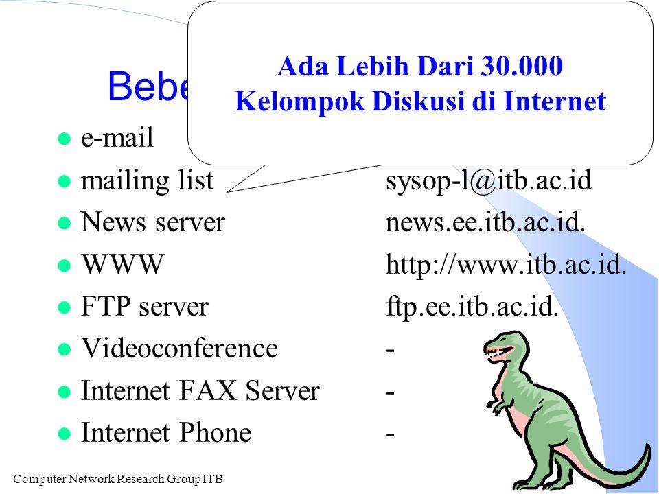 Computer Network Research Group ITB Internet FAX E-mail dikirim ke FAX Server Internet