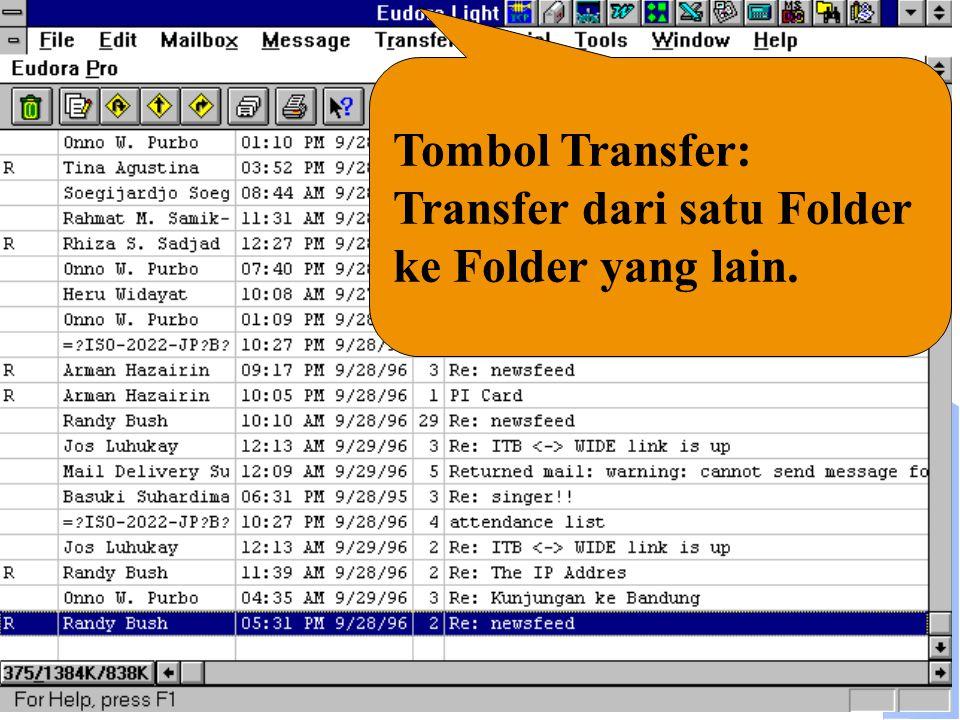 Computer Network Research Group ITB Tombol Transfer: Transfer dari satu Folder ke Folder yang lain.