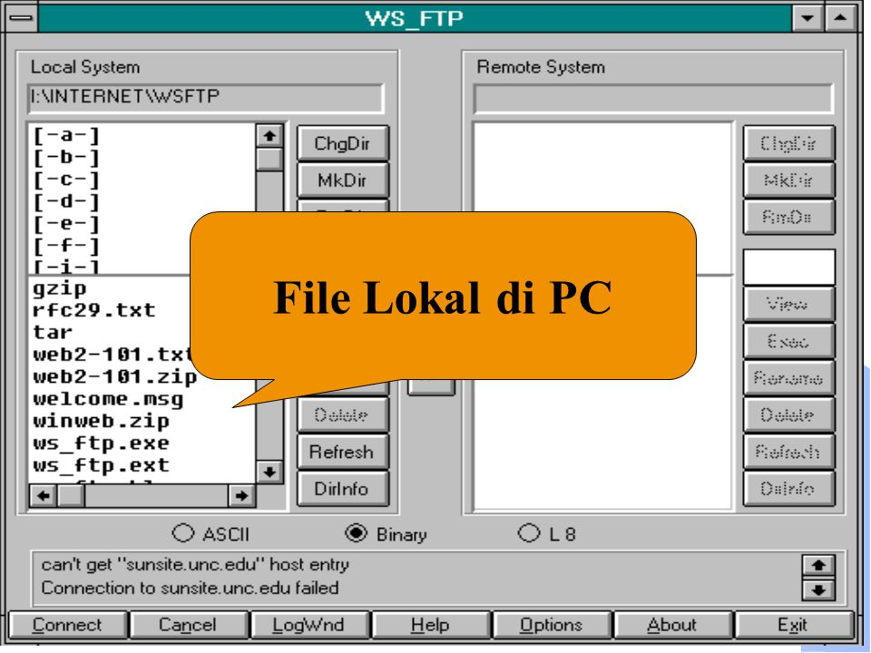 Computer Network Research Group ITB File Lokal di PC