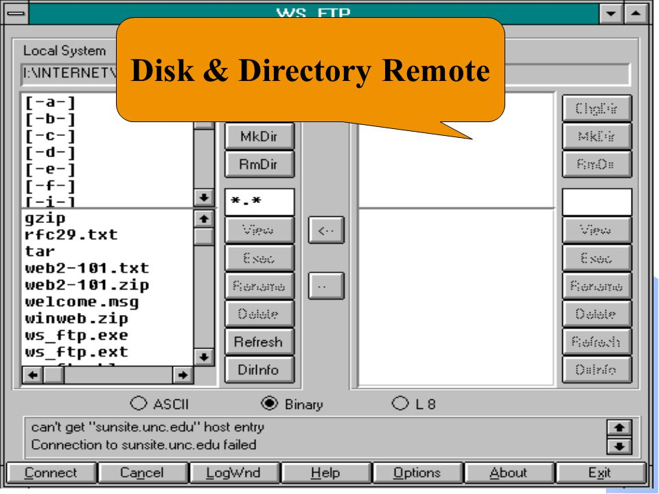 Computer Network Research Group ITB Disk & Directory Remote