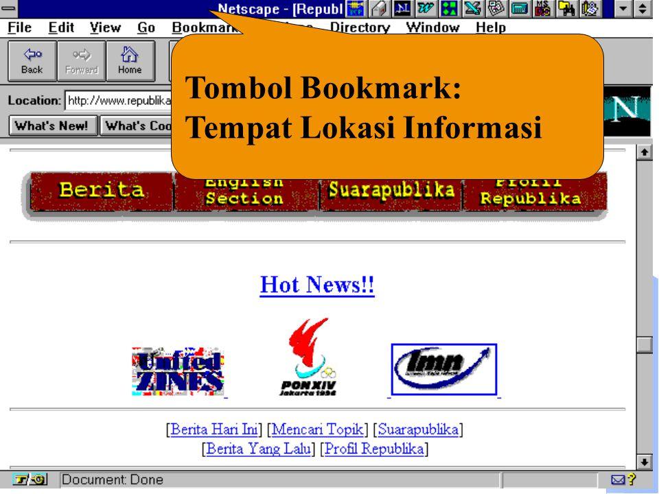 Tombol Bookmark: Tempat Lokasi Informasi
