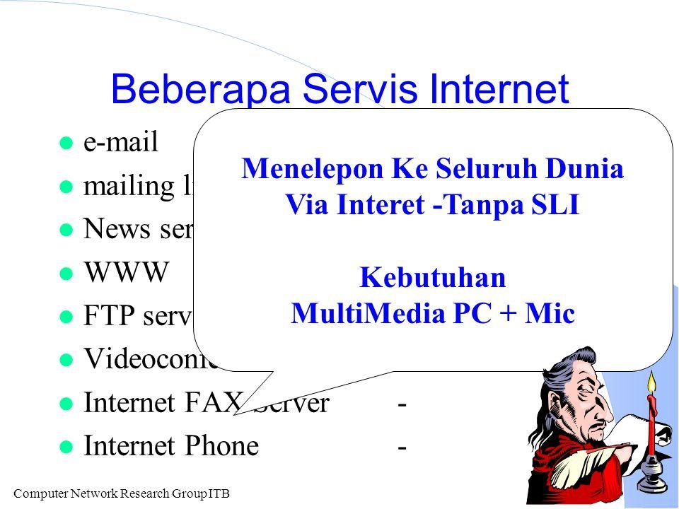 Computer Network Research Group ITB Transfer dari PC Lokal ke Remote