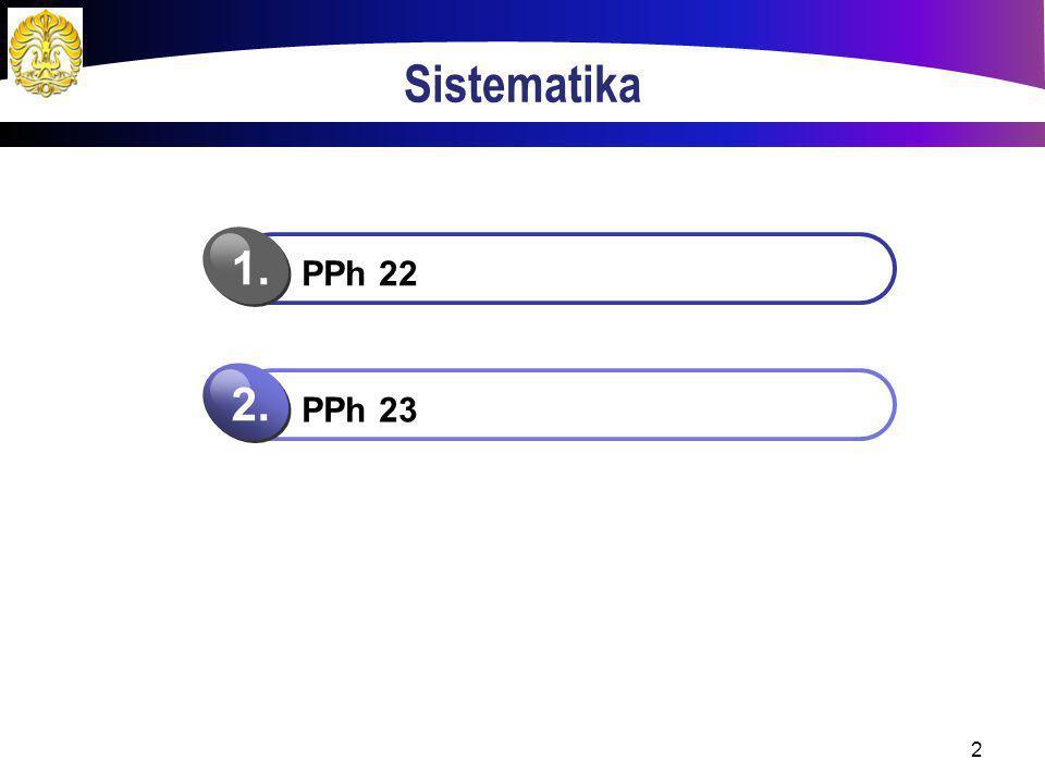 Sistematika 2 PPh 22 1. PPh 23 2.