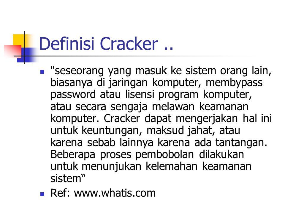 Definisi Cracker..