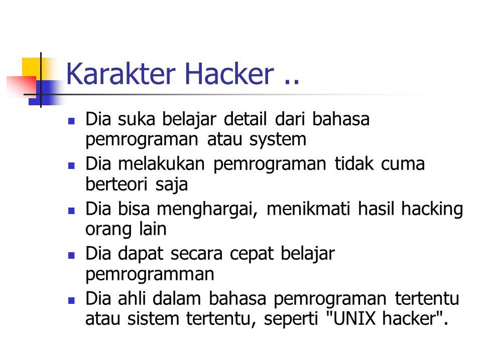 Karakter Hacker..