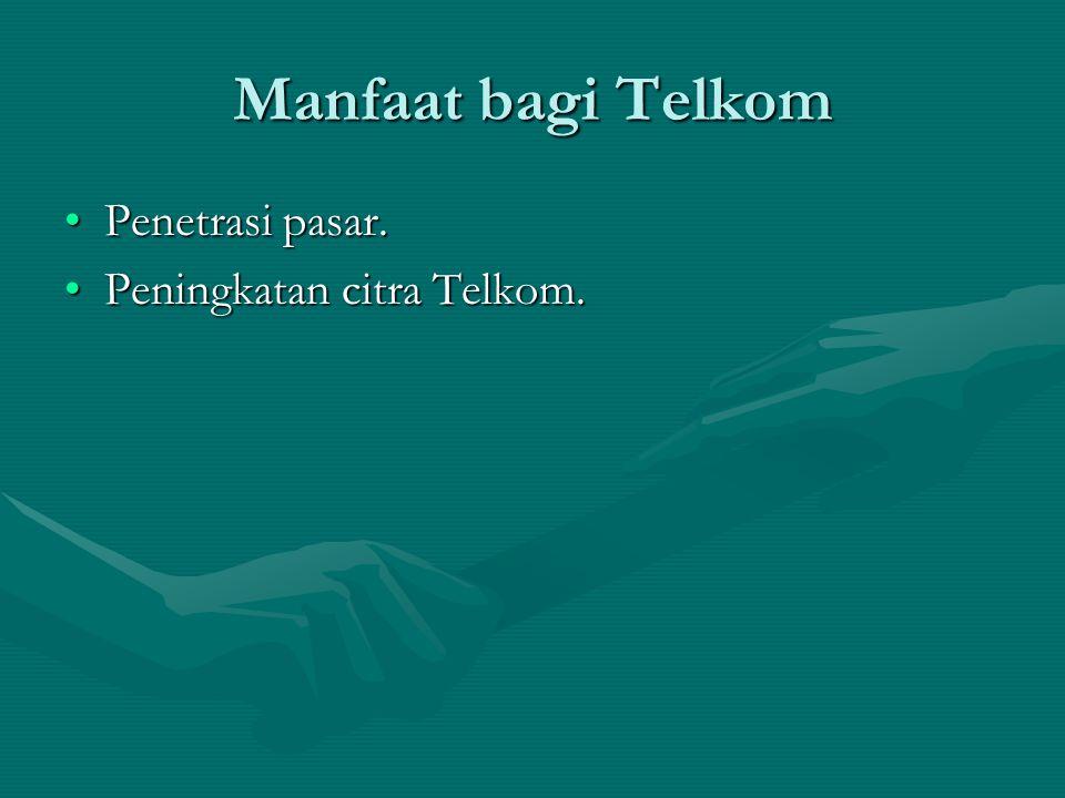 Manfaat bagi Telkom Penetrasi pasar.Penetrasi pasar.