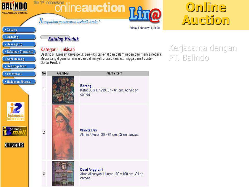 13 Online Auction Kerjasama dengan PT. Balindo