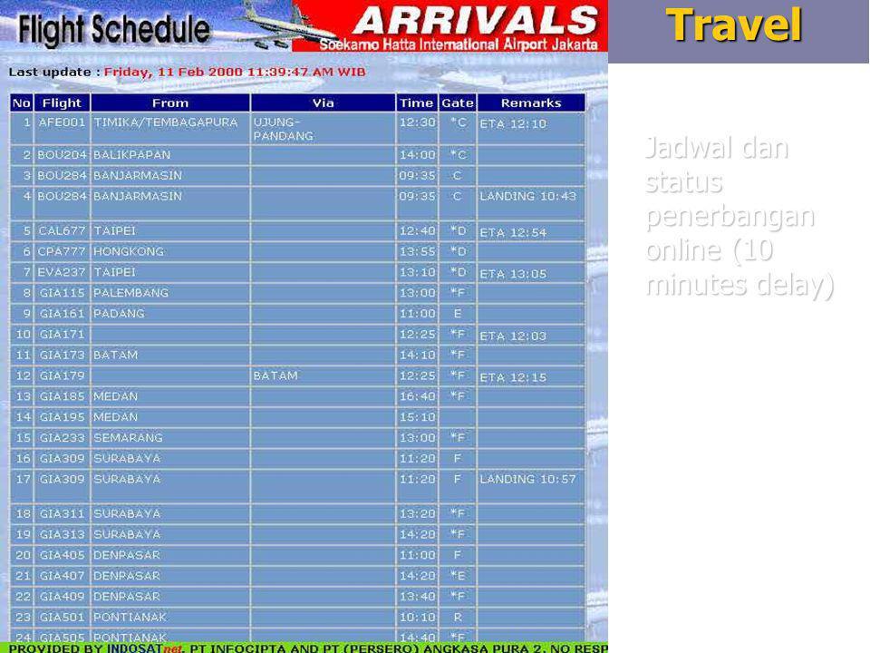 8Travel Jadwal dan status penerbangan online (10 minutes delay)