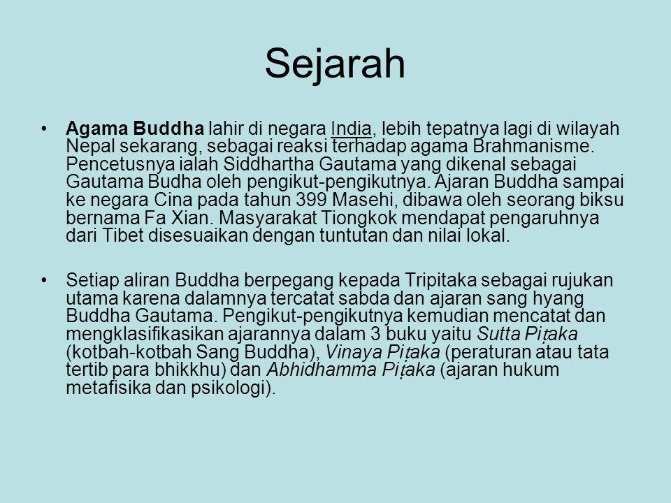 Sejarah Agama Buddha lahir di negara India, lebih tepatnya lagi di wilayah Nepal sekarang, sebagai reaksi terhadap agama Brahmanisme. Pencetusnya iala