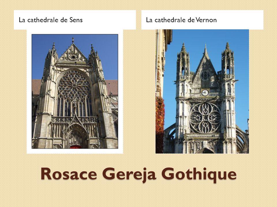Rosace Gereja Gothique La cathedrale de SensLa cathedrale de Vernon