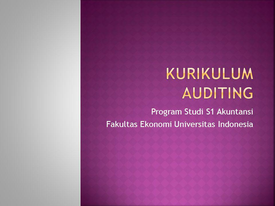 Program Studi S1 Akuntansi Fakultas Ekonomi Universitas Indonesia